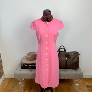 ❗️PRICE FIRM! J. Crew Pink Button Up Dress Size 6